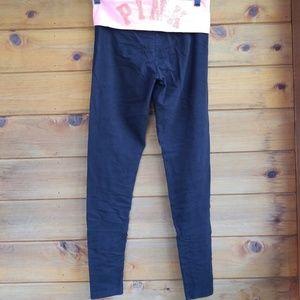 Pink yoga Victoria's secret black leggings size s.